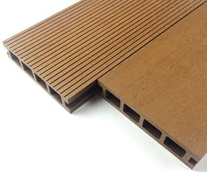 Hollow Wood plastic composite for decking, pier, patio, floors
