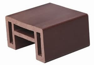 Accessories and fittings for installation of WPC decks, cladding, siding, ceiling, floors or patio