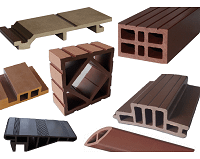 Accessories for installation of Wood Plastic Composite decks, cladding, siding, ceiling, floors or patio