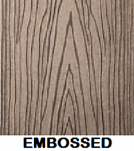 Wood Plastic Composite Surface Texture Finish Embossed