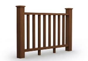 Wood Plastic Composite Fence Barrier