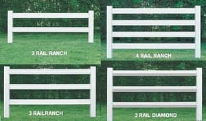 Wood Plastic Composite WPC Fence for pasture drive way
